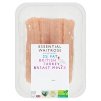 essential Waitrose British Turkey Breast Mince