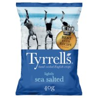 Tyrell's lightly sea salted potato chips