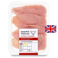 essential Waitrose British chicken breast escalopes
