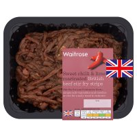 Waitrose British beef sweet chilli and lime stir fry steak