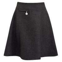 Girls A-line skirt, grey, 10 years