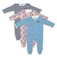 Waitrose vehicle baby sleepsuits 3 pack