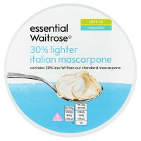 essential Waitrose 30% lighter Italian mascarpone
