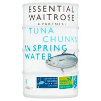 essential Waitrose Tuna Chunks in Spring Water