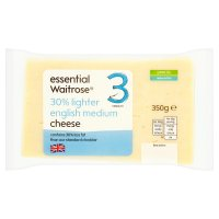 essential Waitrose 30% Lighter English Medium Cheese