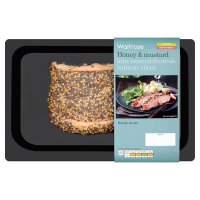 Waitrose honey & mustard kiln roasted Scottish salmon slices