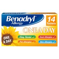 Benadryl once a day relief tablets