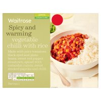 Waitrose vegetable chilli with rice