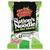 Golden Wonder noodle block chicken & mushroom