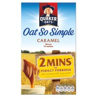 Quaker Oat So Simple caramel porridge 10S