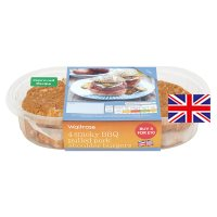 Waitrose 4 pulled pork shoulder burgers