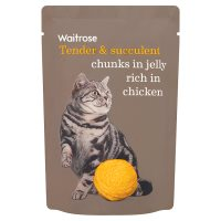 Waitrose chunks in jelly rich in chicken