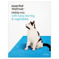 essential Waitrose kibble mix with tuna, herring & veg