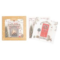 Waitrose Christmas Door/Fireplace Cards