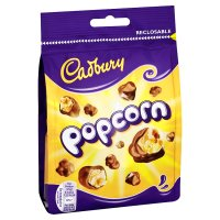 Cadbury choc full of popcorn