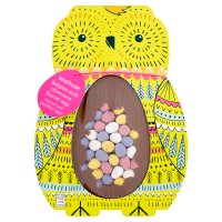 Waitrose Belgian milk chocolate egg with speckled eggs
