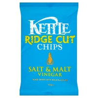 Kettle ridge cut chips salt & malt vinegar