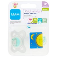 Mam 0+month night soother, pack of 2, assorted