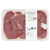 essential Waitrose 4 British lamb steaks