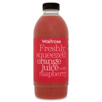 Waitrose freshly squeezed orange juice with raspberry