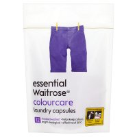 essential Waitrose colourcare laundry capsules 12 washes