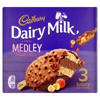 Cadbury Dairy Milk Medley 3 Luxury Ice Creams