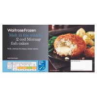 Waitrose Frozen 2 cod Mornay fish cakes MSC