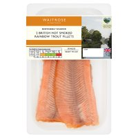 Waitrose Hot Smoked Rainbow Trout Fillets