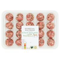 essentail Waitrose New Zealand lamb meatballs