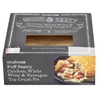 Waitrose chicken, white wine & tarragon top crust pie