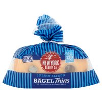 New York Bakery Co Plain Bagel Sandwich Thins