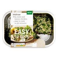 Waitrose Easy To Cook 2 pea, mint & lemon chicken breasts