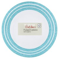 Alfresco stripe paper plates