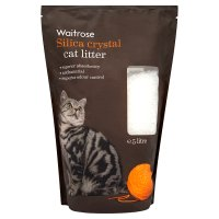 Waitrose silica crystal cat litter