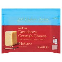 Waitrose Cornish Cheese Mature 30% Lighter