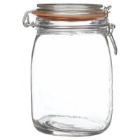 Waitrose Cooking 380ml/0.5LB glass preserving jar