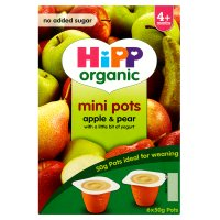 Hipp mini pots apple & pear
