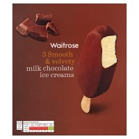 Waitrose Belgian milk chocolate ice creams