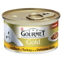 GOURMET Gold Adult Cat Casserole Duck & Turkey Wet Food Can