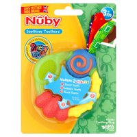 Nuby 3month wacky teething ring