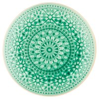 Waitrose Riad Reactive Crackle Plate Green
