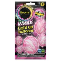 Illooms Pink Marble Light Up Balloo