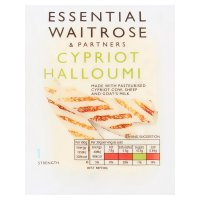 essential Waitrose Cypriot halloumi cheese, strength 1