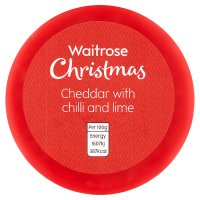 Waitrose Christmas Cheddar Chilli & Lime