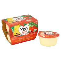 Yeo Valley 4 organic tropical treats yogurts