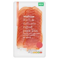 Waitrose Cured Pork Loin 22 slices