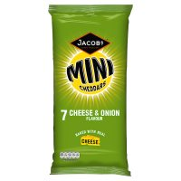 Jacob's baked mini cheddars 7 cheese & onion
