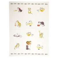 Waitrose Cooking cats tea towel