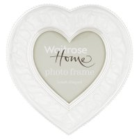 Waitrose Home enamel heart shaped photo frame