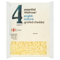 essential Waitrose English mature grated cheese, strength 4